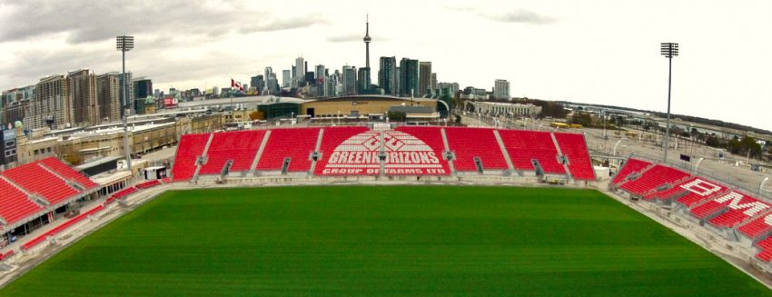 BMO Field Revitalization Sod Grass Turf Green Install