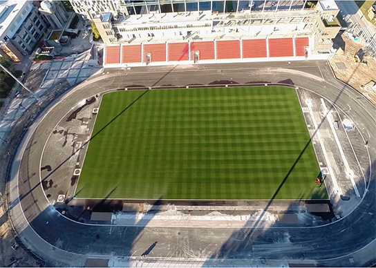 drone photo of the entire field 2015 Pan Am Games