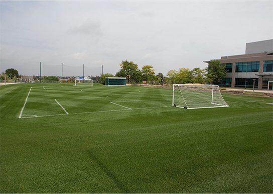 field was built with laser precision